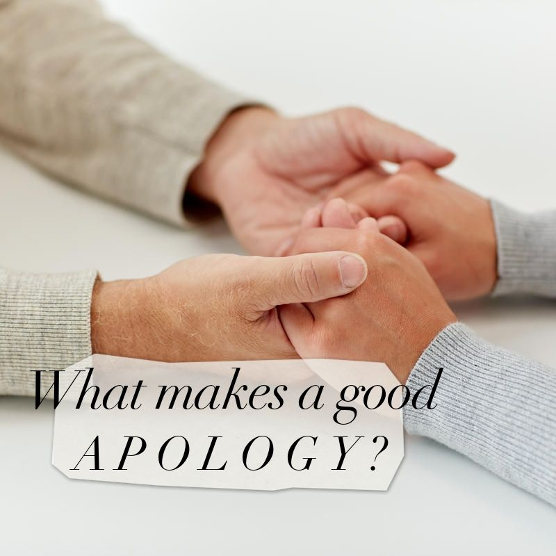 What Makes a Good Apology?