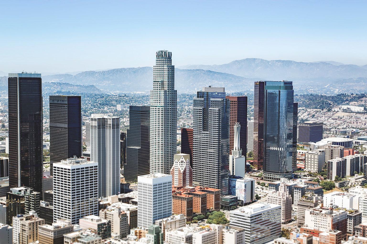 Los Angeles city birds eye view
