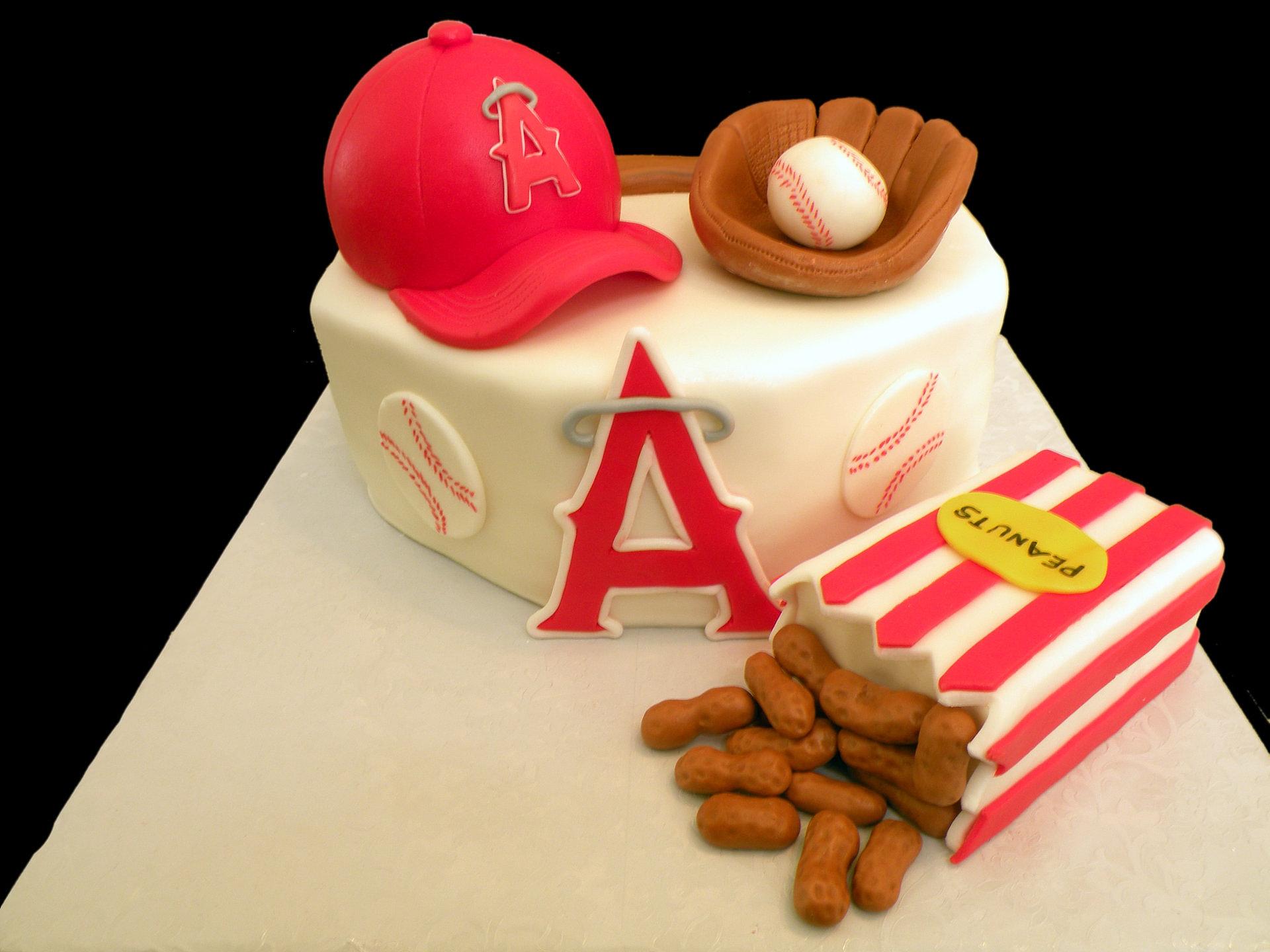 Angels Baseball Birthday Cake