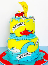 One Fish, Two Fish Baby Shower Cake