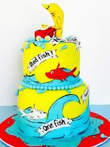 One Fish, Two Fish Baby Shower Cake