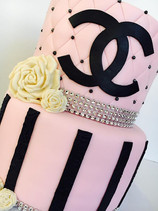 Pink Chanel Birthday Cake