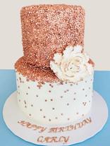 Rose Gold Sequins Cake