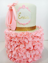 Ballerina Slippers & Ruffles Birthday Cake