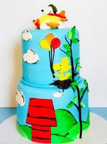 Snoopy Airplane Birthday Cake