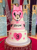 3 Tier Minnie Mouse Birthday Cake