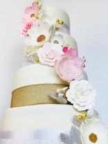 Gold & Pink Weding Cake