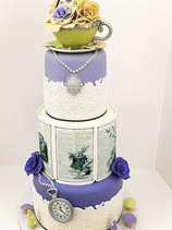 Alice in Wonderland Tea Time Cake