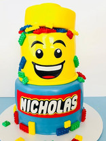 Lego Head Birthday Cake