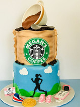 Starbucks Coffee & Running Cake