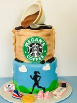 Starbucks Coffee & Running Cake