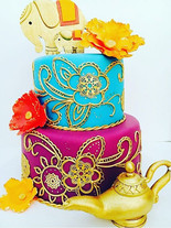 Henna Print Birthday Cake
