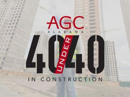 AGC 40 under 40 Recognition!