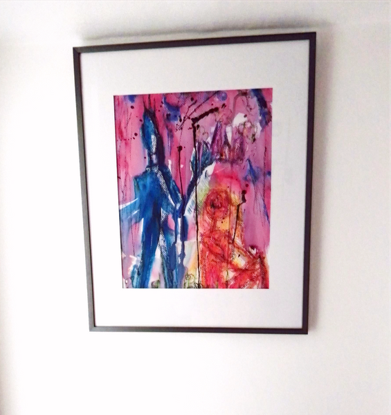 """""""The Queen of the Underworld's coronation"""" Framed"""