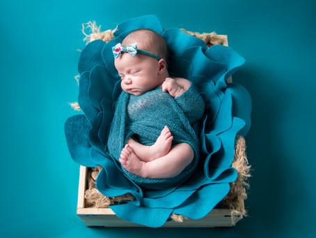 Baby Alina: Teal & Coral
