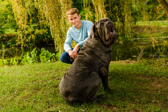 senior pictures with dog