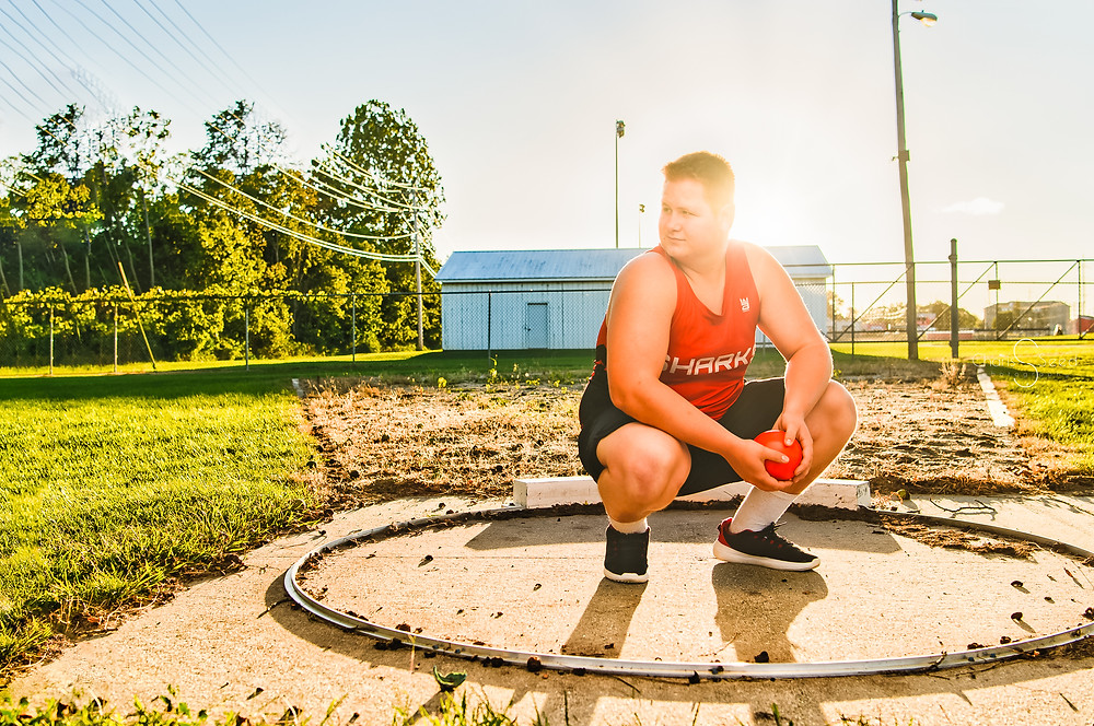 Shot Put Senior pictures