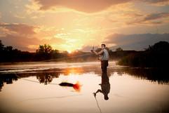 fishing senior picture