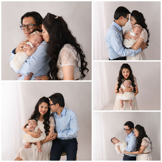 Studio family Pictures on white