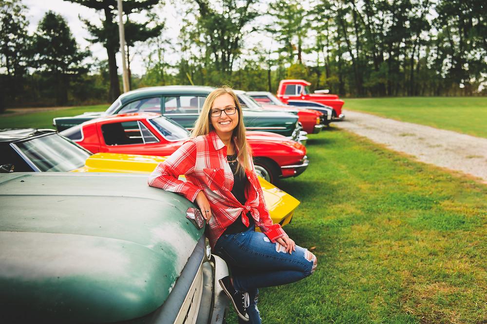 row of classic cars michigan