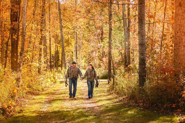 Couples Photography Hunting Fall central michigan