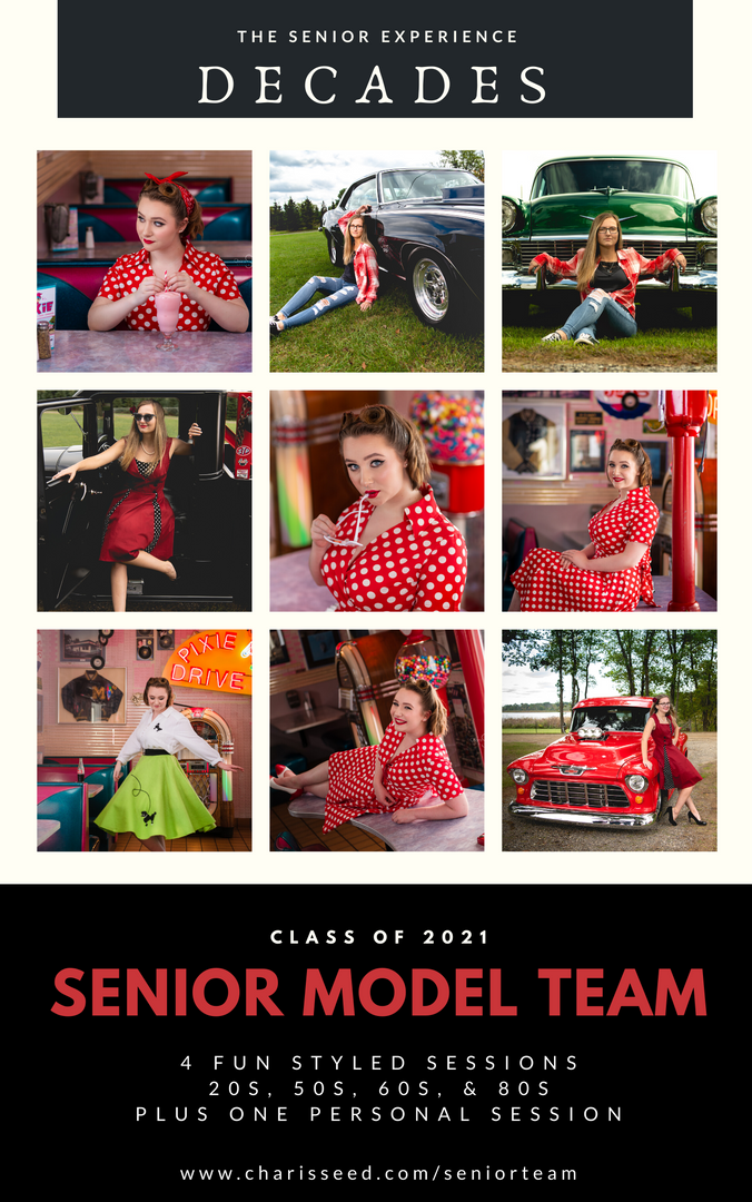 Senior model team Collage Photograp