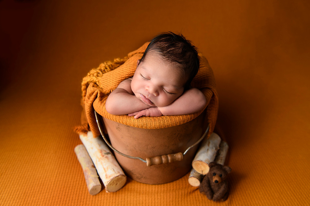 pumpkin tones newborn photography