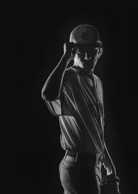 senior pictures black and white baseball