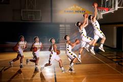 basketball composite senior pictures