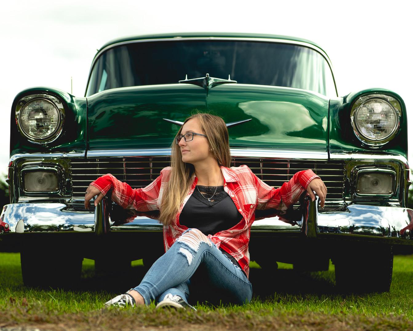 chevy belair 1955 senior girl