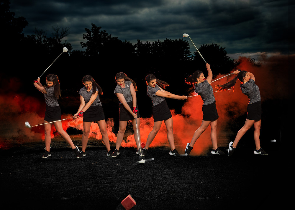 Senior Girl Portrait Mid Michigan golf course Ithica
