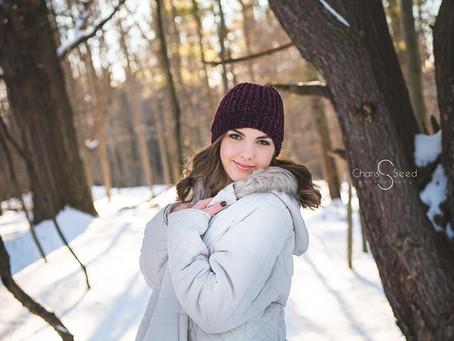Senior Pics SNOW day! | Mid Michigan Photographer