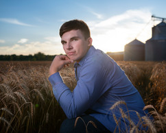 Senior pictures wheat field