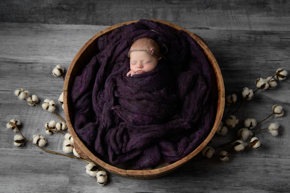 newborn baby in bowl