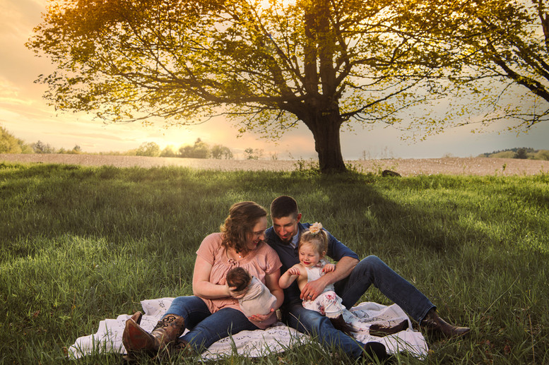 family Michigan Sunset