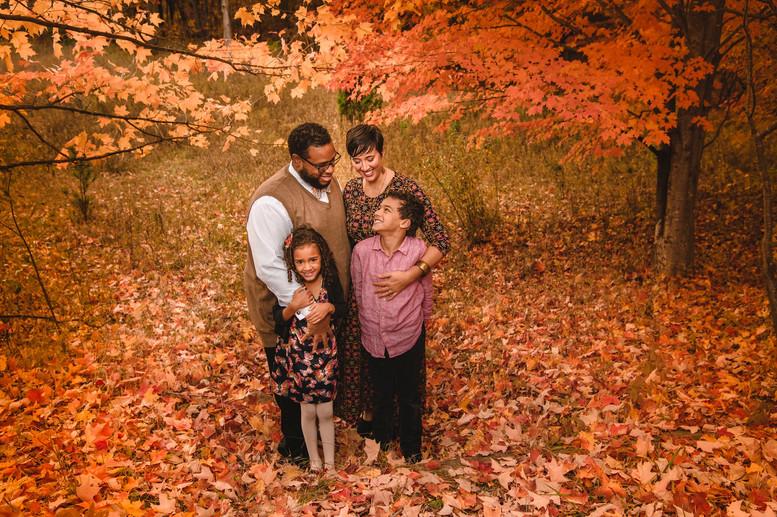 Michigan Fall Family Photo