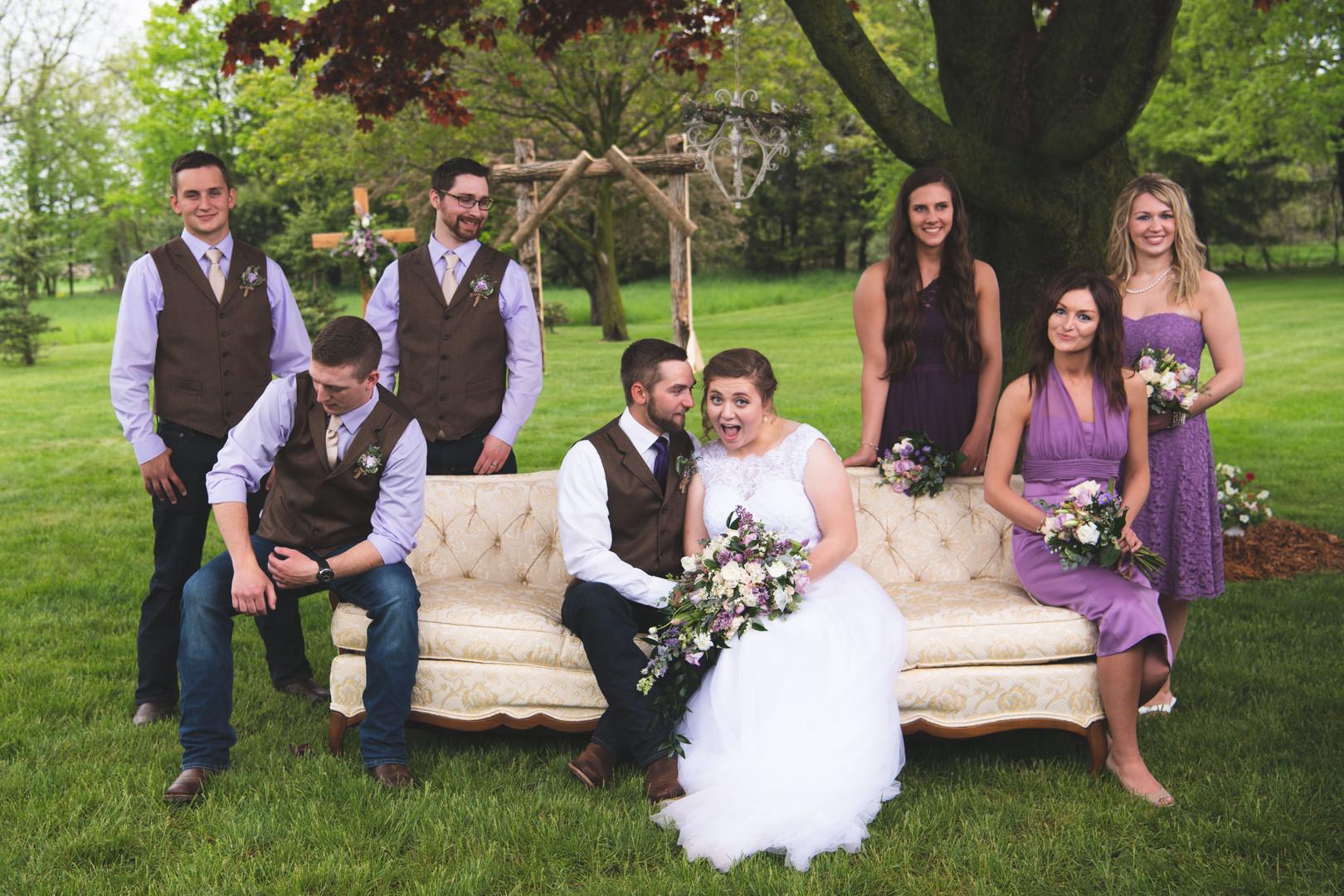 vintage wedding party photo shoot
