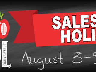 Tax Free Weekend Is August 3-5.