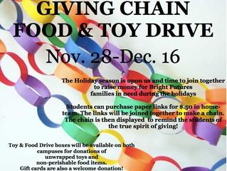 Giving Chain Begins Nov. 28