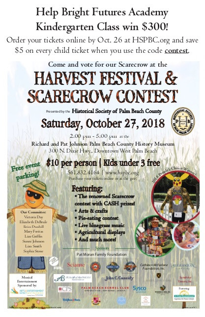 Saturday Oct 27 Scarecrow Contest