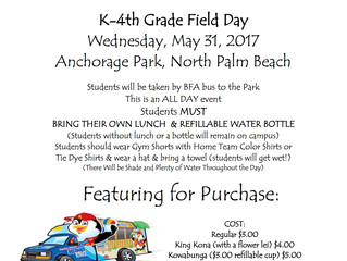 Field Day 2017 and Charter School Week!