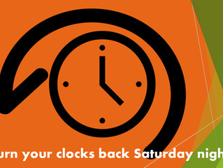 Daylight Savings Ends Sunday At 2 AM