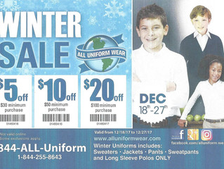 Save on uniforms during this winter sale!