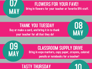 Staff Appreciation Week is May 7-11
