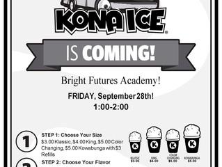 Kona Ice Truck Is Coming!