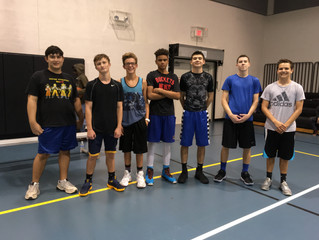 Staff/Students Top Alumni In Annual Basketball Contest