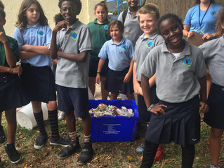 Earth Ambassadors Kick Off Cow Bucket Challenge