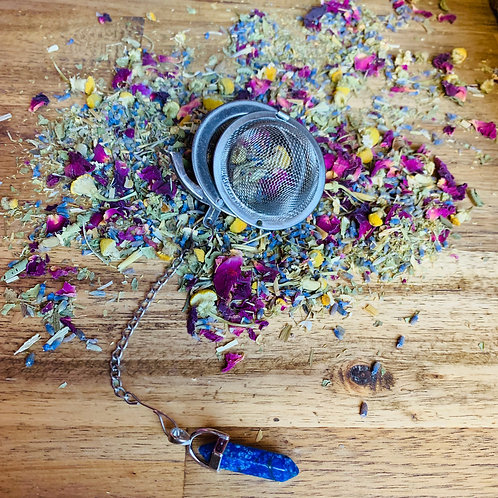 Lapis Gemstone Tea Infuser