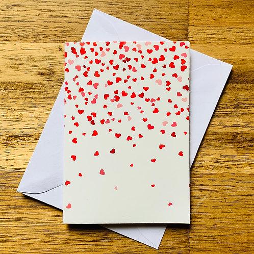 Heart Confetti Greeting Card