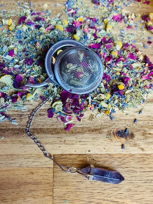 Amethyst Gemstone Tea Infuser